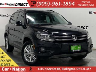 Used 2016 Volkswagen Tiguan Special Edition| AWD| PANO ROOF| NAVI| PUSH START| for sale in Burlington, ON