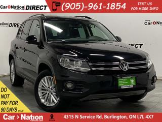 Used 2016 Volkswagen Tiguan Special Edition| AWD| PANO ROOF| BACK UP CAMERA| for sale in Burlington, ON