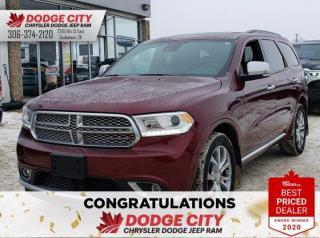 Used 2017 Dodge Durango Citadel Platinum Edition | Leather, Sunroof, B/U Cam for sale in Saskatoon, SK