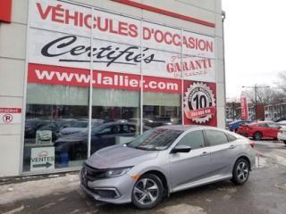 Used 2019 Honda Civic LX**SIÈGES CHAUFFANTS**CAMERA DE RECULE**AUTOMATIQ 90 JOURS SANS PAIEMENTS (DÉTAILS EN CONCESSION) for sale in Montreal, QC