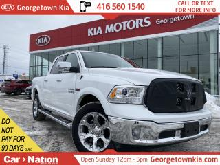 Used 2018 RAM 1500 Laramie 4x4 | LEATHER|ROOF| NAVI | BU CAM| 5'7 Box for sale in Georgetown, ON