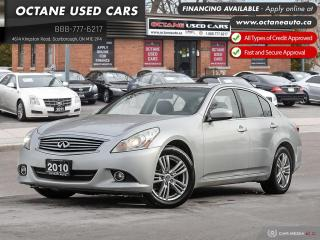 Used 2010 Infiniti G37 X Luxury Accident-Free! Certified! for sale in Scarborough, ON