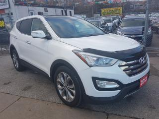 Used 2013 Hyundai Santa Fe SE-ECO-PANO ROOF-BK UPCAM-BLUETOOTH-LEATHER-ALLOY for sale in Scarborough, ON