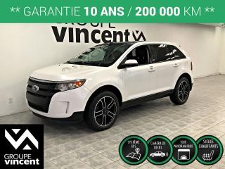 Used 2013 Ford Edge SEL GPS CUIR TOIT PANO ** GARANTIE 10 ANS ** Élégant et luxueux! for sale in Shawinigan, QC