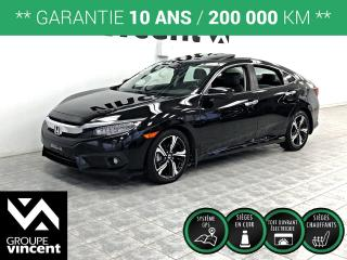 Used 2016 Honda Civic TOURING GPS CUIR TOIT ** GARANTIE 10 ANS ** Luxueux! for sale in Shawinigan, QC