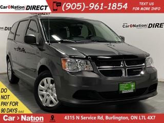 Used 2016 Dodge Grand Caravan CVP| DUAL CLIMATE CONTROL| LOCAL TRADE| for sale in Burlington, ON
