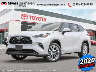 New 2020 Toyota Highlander Hybrid Limited  - Leather Seats - $368 B/W for sale in Ottawa, ON