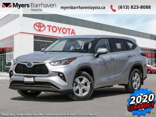 New 2020 Toyota Highlander Hybrid LE  -  Android Auto - $313 B/W for sale in Ottawa, ON