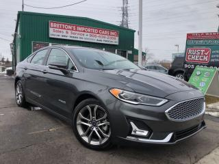 Used 2019 Ford Fusion Hybrid Titanium Leather, Nav,Sunroof for sale in Burlington, ON