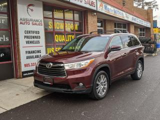 Used 2015 Toyota Highlander XLE AWD for sale in Burlington, ON