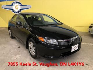 Used 2012 Honda Civic LX, AUTOMATIC, 1 OWNER for sale in Vaughan, ON