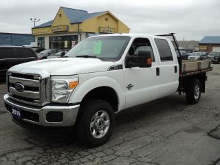 Used 2016 Ford F-350 XLT CrewCab 4x4 6.7L Diesel 9ft FlatBed for sale in Brantford, ON