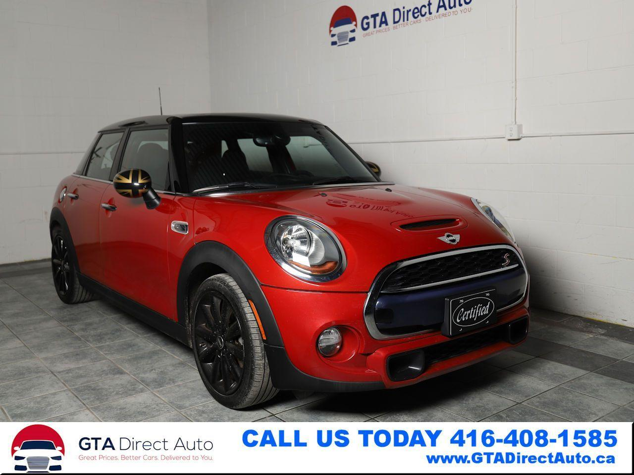 2015 MINI Cooper S S TurboCharged Panroof 4Door KeyGo Auto Certified