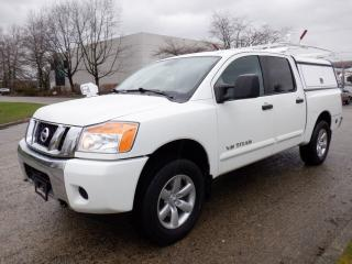 Used 2015 Nissan Titan Crew Cab 4WD Short Box with Canopy Bed Slide for sale in Burnaby, BC