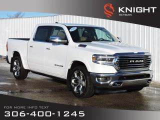 New 2020 RAM 1500 Longhorn Crew Cab 4x4 | Leather Seats | Navigation | Back-up Camera | Remote Start for sale in Weyburn, SK