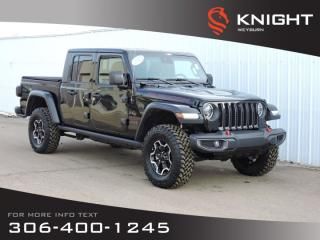 New 2020 Jeep Gladiator Rubicon 4x4 | Leather Heated Seats & Steering Wheel | NAV | Freedom HardTop/SoftTop | Back-up Camera for sale in Weyburn, SK