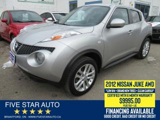 Used 2012 Nissan Juke SV *Clean Carfax* Certified w/ 6 Month Warranty for sale in Brantford, ON