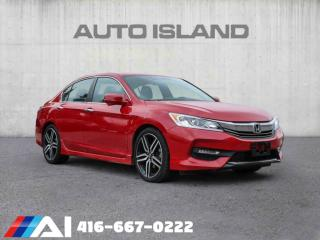 Used 2017 Honda Accord Sedan SPORT PKG LEATHER SUNROOF BACK UP CAM for sale in North York, ON