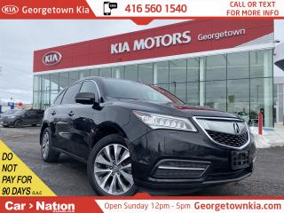 Used 2016 Acura MDX SH-AWD | NAVI | 7 PASS | SUNROOF | SAFETY ASSISTS for sale in Georgetown, ON