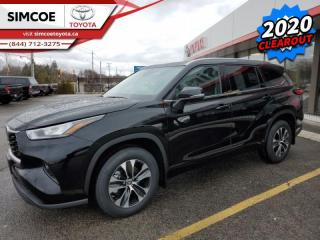 New 2020 Toyota Highlander XLE  - Power Moonroof -  Power Liftgate for sale in Simcoe, ON