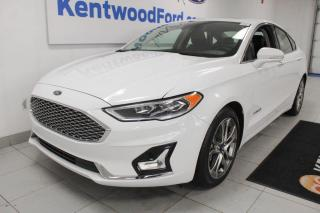 Used 2019 Ford Fusion Hybrid 3 months Deferral *oac | Titanium | HYBRID | Great on fuel | Adaptive cruise | Leather Seats | Reverse camera for sale in Edmonton, AB