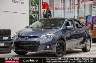 Used 2016 Toyota Corolla S SIÈGES CHAUFFANT! BLUETOOTH! UN PROPRIÉTAIRE! BAS KILOMÉTRAGE! SUPER PRIX! FAITES VITE! for sale in Lachine, QC
