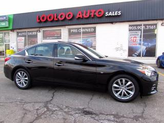 Used 2014 Infiniti Q50 Premium AWD 3.7 L Navigation Camera Certified for sale in Milton, ON