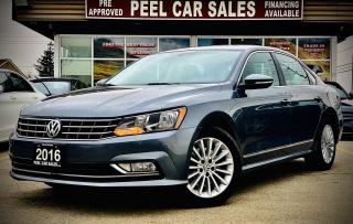 Used 2016 Volkswagen Passat SE |certified| COMFORTLINE| LEATHER| SUNROOF|REARVIEW | ALLOYS| for sale in Mississauga, ON