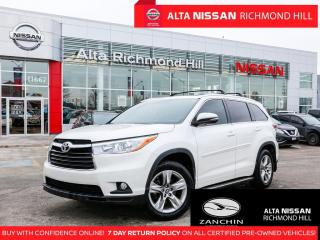 Used 2016 Toyota Highlander AWD Limited   Leather   Pano   Rear Heated Seats for sale in Richmond Hill, ON