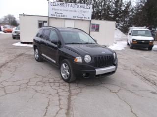 Used 2008 Jeep Compass 4X4 LIMITED for sale in Elmvale, ON