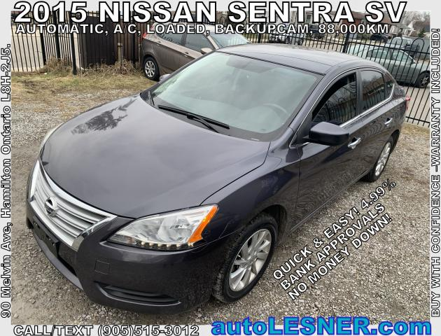 2015 Nissan Sentra -ZERO DOWN, $196 for 60 months FINANCE TO OWN!