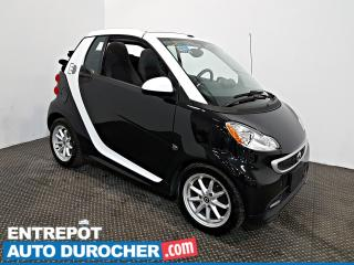 Used 2014 Smart fortwo electric drive Passion DÉCAPOTABLE Automatique - A/C - CUIR for sale in Laval, QC