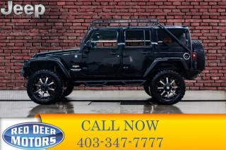 Used 2012 Jeep Wrangler Unlimited 4x4 Sahara Lift Leather Nav Winch for sale in Red Deer, AB