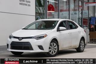 Used 2016 Toyota Corolla LE SIÈGES CHAUFFANT! BLUETOOTH! CAMÉRA DE RECUL! RÉGULATEUR DE VITESSE! SUPER PRIX! FAITES VITE! for sale in Lachine, QC