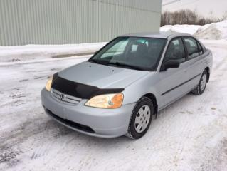 Used 2003 Honda Civic Berline 4 portes, boîte manuelle - DX-G for sale in Quebec, QC