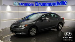 Used 2012 Honda Civic LX + A/C + GARANTIE + CRUISE + BLUETOOTH for sale in Drummondville, QC