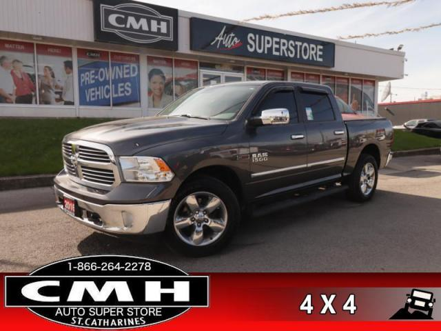 "2016 RAM 1500 Big Horn  DIESEL CREW BUCKETS NAV CAM 10W-P/SEAT 8""-TOUCH DUAL-EXH 20""-AL TOW REMOTE"