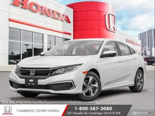 New 2020 Honda Civic LX HEATED SEATS | HONDA LANEWATCH™ CAMERA | HONDA SENSING TECHNOLOGIES for sale in Cambridge, ON