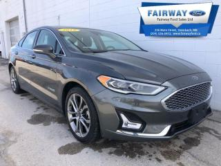 Used 2019 Ford Fusion Titanium  - Leather Seats -  Navigation for sale in Steinbach, MB