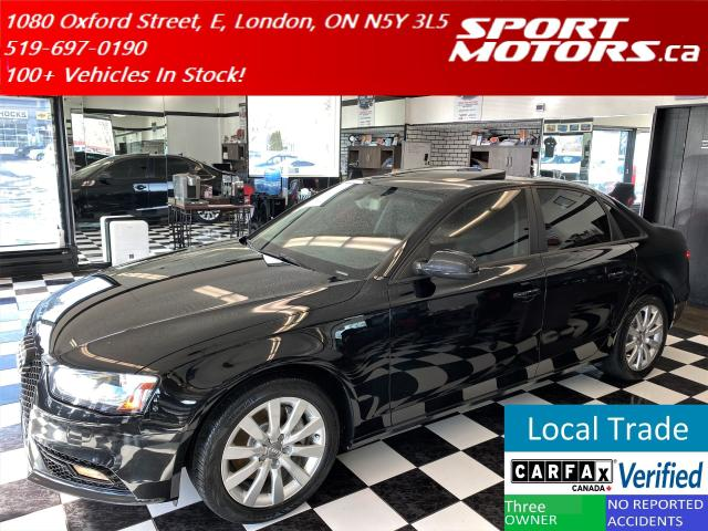 2013 Audi A4 2.0T Quattro+Leather+Roof+Tinted+Accident Free