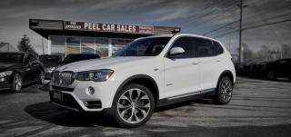 Used 2016 BMW X3 xDrive35i|CERTIFIED NAVI|PANOROOF|XEON|AWD|CLEAN CARFAX| HEADS-UP DISPLAY| for sale in Mississauga, ON