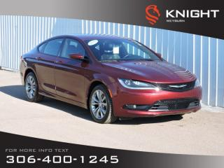 Used 2015 Chrysler 200 S AWD | Low KM | Leather Trimmed Sport Seats  | NAV | Back-up Camera | Remote Start | Bluetooth for sale in Weyburn, SK