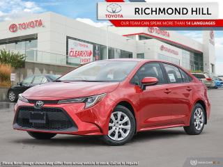 New 2020 Toyota Corolla LE  - Heated Seats - $76.15 /Wk for sale in Richmond Hill, ON