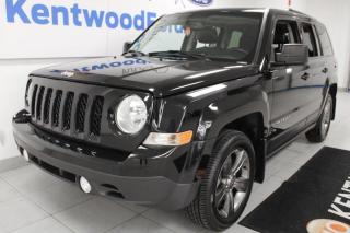 Used 2015 Jeep Patriot 3 Mos Deferral! *oac | high altitude with heated power leather seats and a sunroof for sale in Edmonton, AB