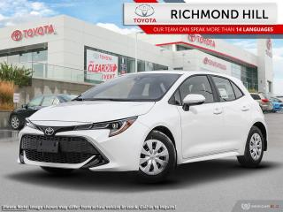 New 2020 Toyota Corolla Hatchback S  - $87.61 /Wk for sale in Richmond Hill, ON