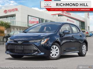 New 2020 Toyota Corolla Hatchback S  - $85.94 /Wk for sale in Richmond Hill, ON