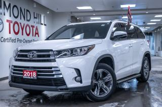 Used 2018 Toyota Highlander Limited |Blind Spot Indicators|  Navigation  | Leather | Moon Roof | Heated Seats| Power Lift Gate | Brake Assist | Reverse Camera | Heated Captain Seats Second Row| for sale in Richmond Hill, ON