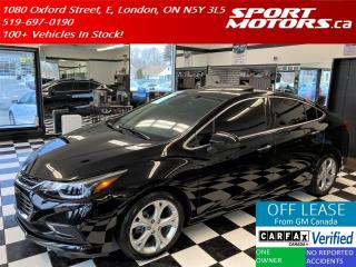 Used 2017 Chevrolet Cruze PREMEIR+GPS+Blind Spot+LaneKeep+Roof+Accident Free for sale in London, ON
