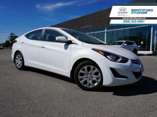 Used 2016 Hyundai Elantra GL | 1-OWNER | LOCAL TRADE IN | SERVICED HERE   - $79 B/W for sale in Brantford, ON