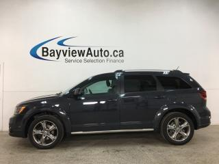 Used 2018 Dodge Journey Crossroad - 7PASS! AWD! HTD LTHR! ROOF! NAV! DVD! ALLOYS! for sale in Belleville, ON